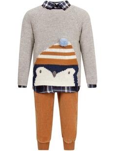 Комплект из джемпера, брюк и рубашки Il Gufo