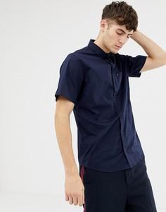 Хлопковая рубашка с короткими рукавами Tommy Hilfiger - Синий