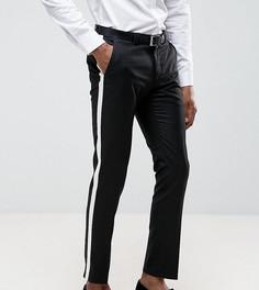 Зауженные брюки с полосой Noak - Черный