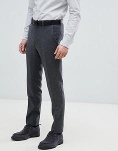 Зауженные брюки из ткани с добавлением шерсти Jack & Jones Premium - Серый
