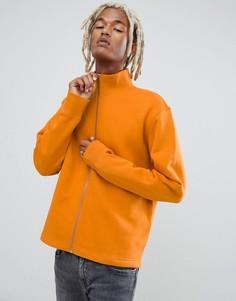 Оранжевый свитшот на молнии Weekday - Оранжевый