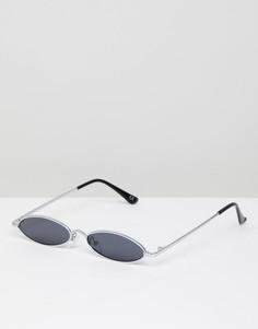 Овальные солнцезащитные очки в металлической оправе ASOS DESIGN - Черный