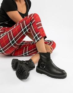 Кожаные байкерские премиум-ботинки ASOS DESIGN Acolade - Черный