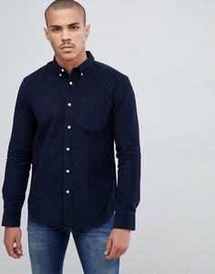 Темно-синяя вельветовая рубашка Bellfield - Темно-синий