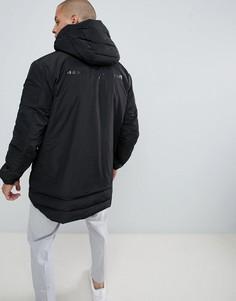 Дутая куртка с логотипом на спине Diesel W-Sun-Rev - Черный