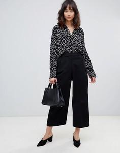 Укороченные брюки Selected - Черный