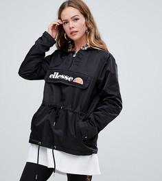 Куртка на молнии с контрастной леопардовой подкладкой ellesse - Черный