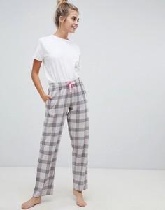 Пижама с клетчатыми штанами Brave Soul - Серый