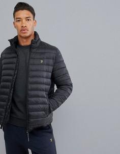 Черная дутая куртка Farah Sport Shawland - Серый