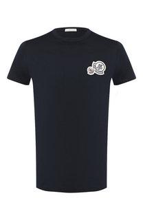 Хлопковая футболка с нашивками Moncler