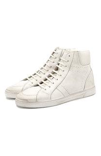 Высокие кожаные кеды Joe на шнуровке Saint Laurent