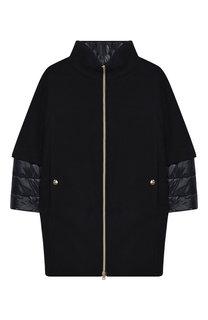 Пальто из шерсти на молнии с воротником-стойкой Herno