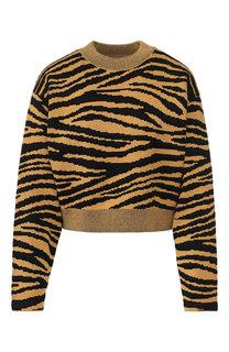 Пуловер из смеси шерсти и вискозы с принтом Proenza Schouler