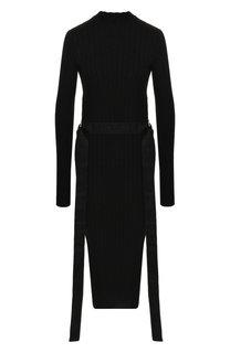 Вязаное платье-миди с поясом BOSS