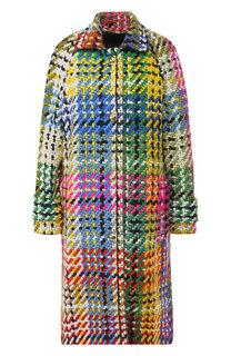 Вязаное пальто из шерсти Escada