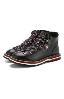 Кожаные ботинки Blanche на шнуровке Moncler