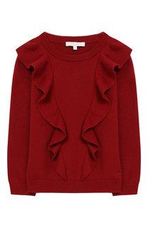 Пуловер из смеси хлопка и кашемира с оборками Chloé