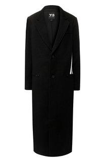 Шерстяное пальто с контрастной отделкой Y-3