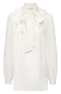 Шелковая блуза с воротником аскот Zimmermann