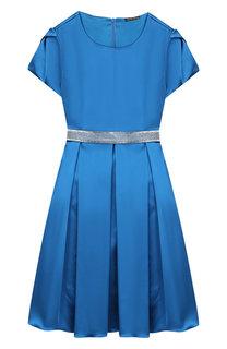 Платье с защипами и декоративным поясом Alexander Terekhov