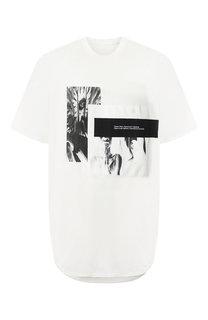 Удлиненная хлопковая футболка с принтом Julius