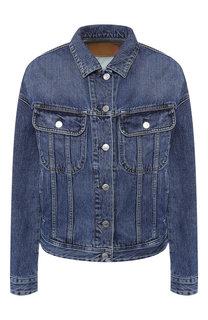 Джинсовая куртка свободного кроя с потертостями Acne Studios