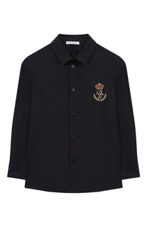 Хлопковая рубашка с вышивкой Dolce & Gabbana