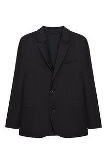 Шерстяной пиджак на двух пуговицах Emporio Armani