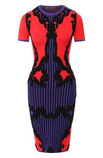 Вязаное платье с круглым вырезом Versace