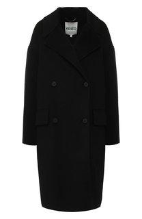 Двубортное пальто из смеси шерсти и кашемира Kenzo