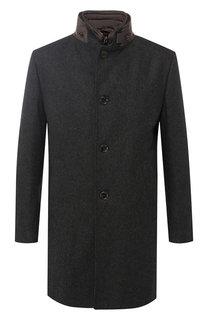 Однобортное пальто из смеси шерсти и кашемира Windsor
