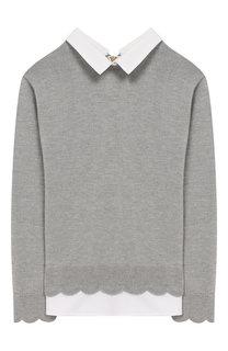 Пуловер джерси с контрастной отделкой Tartine Et Chocolat a1c64c1915cfd