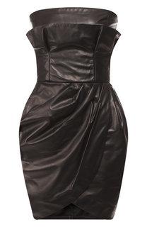 Кожаное мини-платье Versace