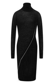 Шерстяное платье на молнии с воротником-стойкой Sacai