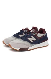 Комбинированные кроссовки 597 на шнуровке New Balance
