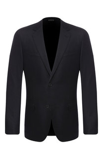 Однобортный пиджак из смеси шерсти и кашемира Lanvin