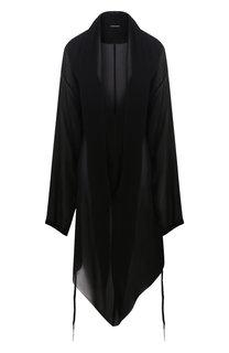 Полупрозрачное платье асимметричного кроя Ann Demeulemeester