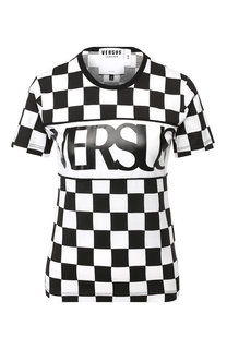Хлопковая футболка с логотипом бренда Versus Versace