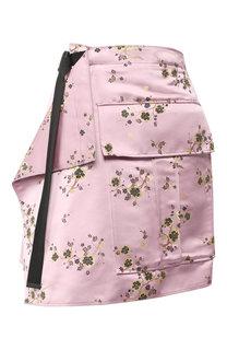 Мини-юбка с запахом и принтом Kenzo