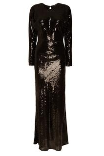 Черное платье с пайетками Alexander Terekhov