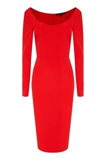Красное платье из шелка Alexander Terekhov