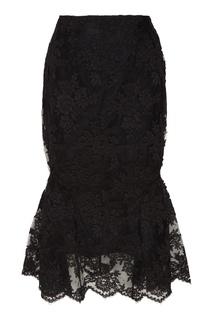 Кружевная юбка миди Simone Rocha