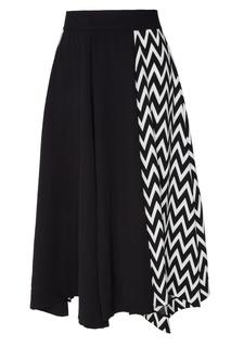 Черная юбка с контрастным узором Loewe