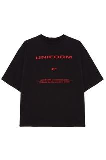 Черная футболка oversize с надписью Jacob Kane