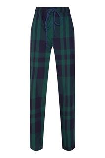 Зеленые брюки в клетку Tryyt