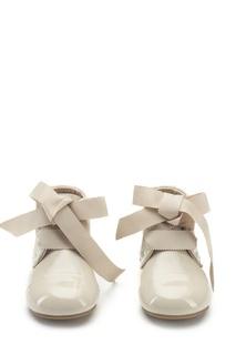 Лакированные бежевые ботинки Jane PL Age of Innocence