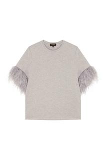 Серая футболка с перьями T Skirt