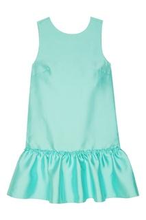Бирюзовое мини-платье с оборкой T Skirt