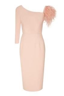 Асимметричное розовое платье с перьями T Skirt