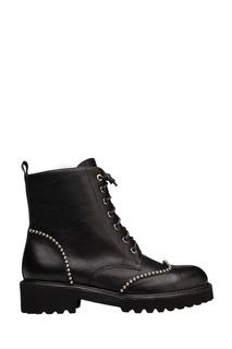Черные ботинки с отделкой Portal